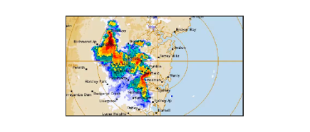 Bureau of meteorology's rain radar